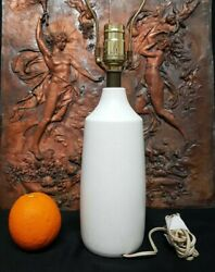 Lotte amp; Gunnar Bostlund Pottery Mid Century Modern Table Lamp small vtg mcm $175.00