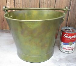 Antique Vintage 7quot; Very Fine Quality BRASS KETTLE POT w Handle Jelly Candy $32.89