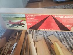 Vintage 1972 SIG KADET Model Airplane Balsa Kit RC 31 W S 57quot; $30.00