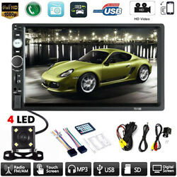 Car MP5 Player 7quot; Double 2DIN Bluetooth Touch Screen Stereo Radio USB AUX Camera $68.85