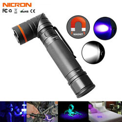 Nicron 395nm UV Lights LED Black Light Tactical Flashlights Rechargeable Torch $43.99