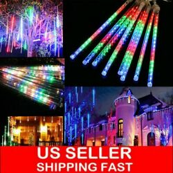 384LED Waterproof Lights Meteor Shower Rain 8 Tube Tree Outdoor Light Xmas Decor