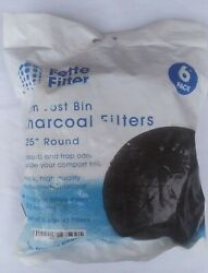 Fette Filter Compost Bin High Quality Charcoal Filters 6.25quot; Round 6 Pack $8.00
