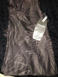 Spalding Leggings Nwt SzM Poly spandex Licorice Combo Color Pretty $9.99