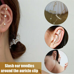 Ear Wrap Crawler Hook Earrings Sash Ear Needles Around Auricle Clip Jewelry US $6.99