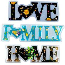 Love Home Family Resin Silicone Molds for Epoxy Mold DIY Making Table Decoration $4.69