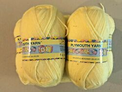 PLYMOUTH YARN DREAM BABY DK LOT of 5 Beautiful Yellow Soft amp; Cuddly for Baby $20.00