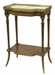 Antique Table Side French Louis XVI Style Marble Top Side Table Early 1900s $811.35