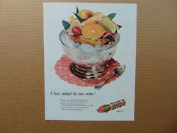 1947 LIFE SAVERS Fruit Cocktail For Your Pocket vintage art print ad $14.99