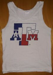Texas Aamp;M College Tank Top Size S Texas Flag College Station NCAA Gildan