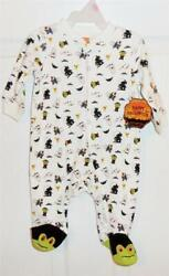 Halloween Boy#x27;s quot;TRICK OR TREATquot; Footed Sleeper Choose Size 0 3 m or 3 6 m NEW $5.00