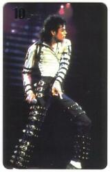 10u Michael Jackson: On Stage Stance For Moon Walk Phone Card $14.84