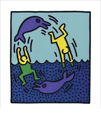 Keith Haring Untitled 1983 Dolphins Pop Art Poster $19.99