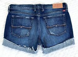 Lucky Womens Cut off Cuffed Low Rise Denim Blue Jean shorts size 6 28 $19.99