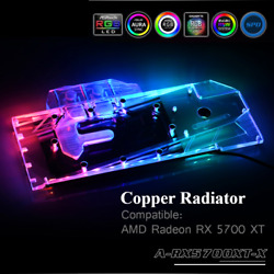 Water Block Full Cover Copper Radiator Use For RX 5700 5700XT AMD GPU Card 3P $119.99