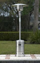 Commercial Outdoor Patio Heater Propane 46000 BTU with Wheels Stainless Steel