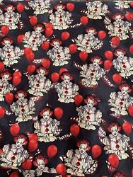 100% Cotton Woven Custom Fabric IT Pennywise Clown Ready To Ship Per Yard $29.99