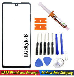 For LG Stylo 6 Front Glass Replacement Screen Outer Lens Uv Glue Loca Tools Kit $14.30
