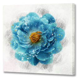 Blue Flower Pictures Floral Canvas Wall Art for Bathroom Kitchen Dining Room $16.99