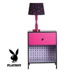 PLAYBOY LOVE PINK BUNNY BEDSIDE TABLE DRAW HOME BEDROOM DECOR FURNITURE RRP: $99 AU $55.00