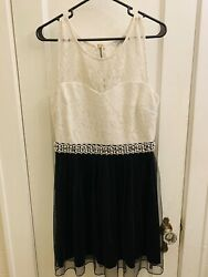 Speechless Black And White Cocktail Party Dress With Pearls And Rhinestones 13 $34.99