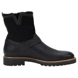 ROSS AND SNOW Men#x27;s Sz 11 Federico Waterproof Rugged Shearling Motor Boots $199.99