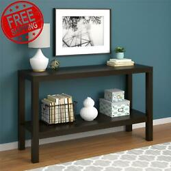 Parsons Console Table Sofa Espresso Kitchen Entryway Office Storage Furniture $79.35