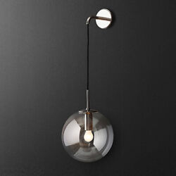 Nordic Style Glass Ball Wall Lamp LED Bracket light For Bedroom Living Room New $54.99