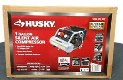 Husky 3300113 1 Gal. Portable Electric Powered Silent Air Compressor $127.97