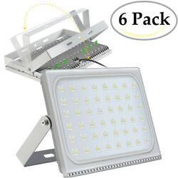 6X 300 Watt Slim High Power LED Flood Light Cool White Indoor Outdoor Fixtures