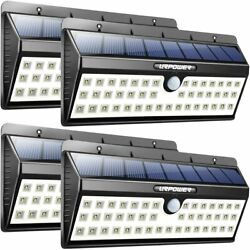 4 Pack Large Solar LED Lights Outdoor Wall Light Motion Activated Auto On Off