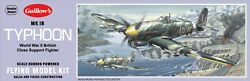 Guillow#x27;s Hawker Typhoon Balsa Wood Model Airplane Kit WWII Aviation GUI 906 $22.00