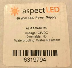 Aspect LED AL PS W 60 24 Water Resistant 24VDC LED Power Supply