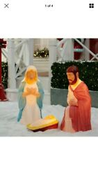 28.5quot; Lighted Outdoor Nativity Set 3 piece Holy Family Large Lights Christmas