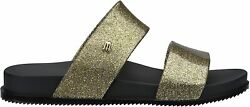 Melissa Shoes Cosmic Gold Glitter Black 6 M $27.00