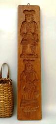 ANTIQUE WOODEN FOLK ART DUTCH SPRINGERLE SPECULAAS COOKIE BOARD MOLD $69.89