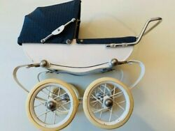 Antique GENUINE RED Doucet brand Doll Baby Buggy Pram Carriage $595.00