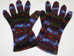 Vintage Patagonia Synchilla™ Fleece Gloves Aztec Pattern Size LARGE $24.95