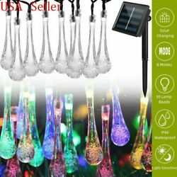 Solar Powered 30 LED String Light Garden Patio Yard Landscape Lamp Party Outdoor $12.68