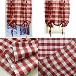 Buffalo Check Plaid Window Curtains For Living Room Bedroom Kitchen Red 42 $33.99