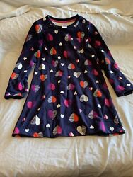 Gymboree Size 8 Girls Dress Blue with hearts $7.99