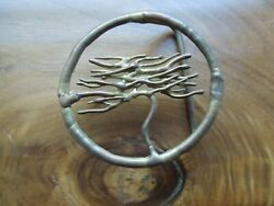 VINTAGE BRASS art free form TREE BELT BUCKLE from 70#x27;S brass handmade $24.00