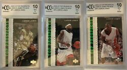 Lebron James 2003 04 Upper Deck Top Prospects Promo set BCCG 10 MINT BGS RC $219.00