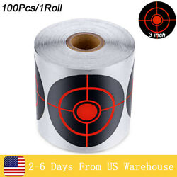 100Pcs 1Roll Self Adhesive Paper Reactive Splatter Shooting Target Stickers $14.99