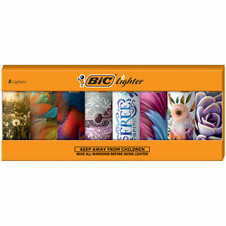 BIC Special Edition Bohemian Series Lighters Set of 8 Lighters $12.24