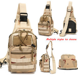 Men Pack Molle Tactical Sling Chest Pack Shoulder Bag Outdoor Field Chest Bag $22.53