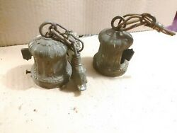 One Pair of Vintage Light Fixture Hanging Sockets Sconce C $26.25
