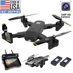 Cooligg Quadcopter Drone With HD Camera Selfie 2MP 720P WiFi FPV Foldable RC $62.99