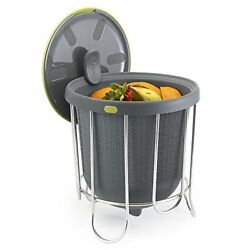 Polder Kitchen Composter Flexible silicone bucket inverts for emptying and clean $40.62