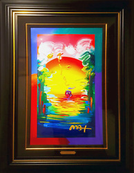 Peter Max Better World Mixed Media with Acrylic on Screenprint on Wove Paper $12000.00